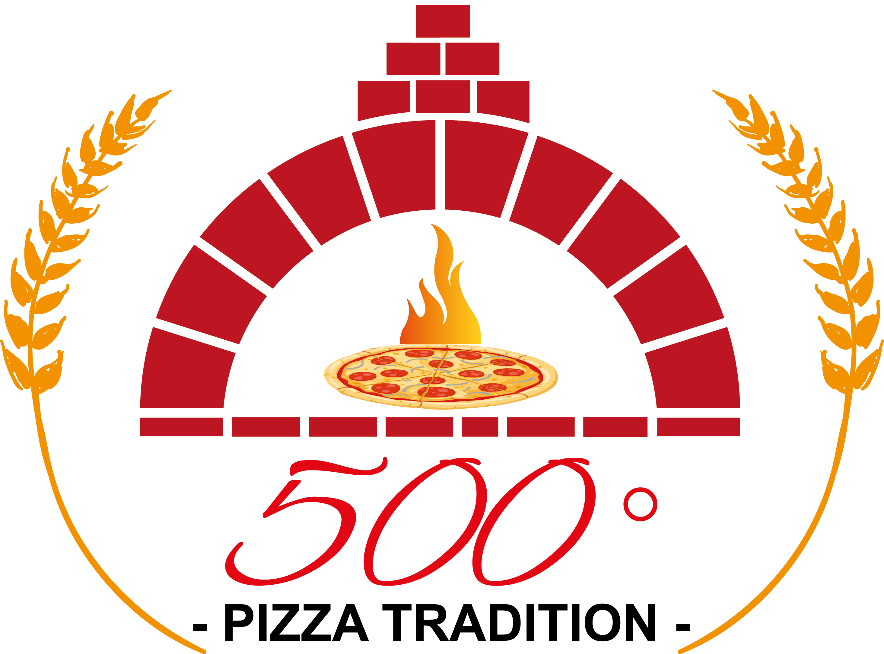 logo 500° Pizza Tradition